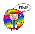 Cartoon Happy Doctor Feeling Proud Vector Concept