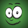 Cartoon happy face a green Royalty Free Stock Images