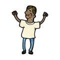 cartoon happy man Royalty Free Stock Photo