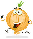 Cartoon Happy Onion Character Stock Photography
