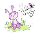Cartoon happy rabbit Royalty Free Stock Photo