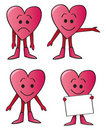 Cartoon Heart Guys Royalty Free Stock Images