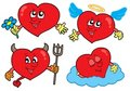 Cartoon hearts collection Royalty Free Stock Photo