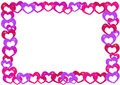 Cartoon hearts frame Royalty Free Stock Photo