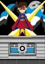 Cartoon Heroic Superhero