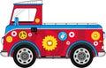 Cartoon Hippie Van