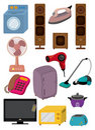 Cartoon home Appliance icon Royalty Free Stock Photo