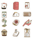 Cartoon Home Appliances icon Royalty Free Stock Photo