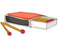 Cartoon Home Kitchen Matches Royalty Free Stock Photo