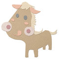 Cartoon horse tissue papercraft Royalty Free Stock Photo