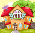 Cartoon house Royalty Free Stock Photo