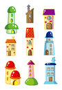 Cartoon House icon Stock Photos
