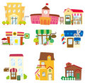 Cartoon house icon Royalty Free Stock Image