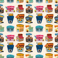 Cartoon house / shop seamless pattern Royalty Free Stock Image