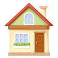 Cartoon house. Vector illustration. Royalty Free Stock Photo