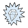 cartoon huge diamond Royalty Free Stock Photo