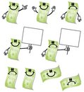 Cartoon Hundred Dollar Bills Royalty Free Stock Photos