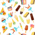 Cartoon Ice Cream Background Pattern. Vector