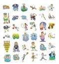 Cartoon icon collection #02 Royalty Free Stock Photo
