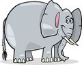 Cartoon illustration of cute gray african elephant Stock Photo