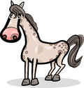 Cartoon illustration of cute horse farm animal Stock Photos