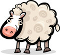 Cartoon illustration of cute sheep farm animal Stock Image