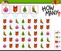 How many Christmas objects cartoon game