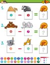 Maths subtraction game with animals Royalty Free Stock Photo