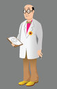 Cartoon illustration funny doctor Stock Photography