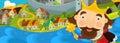 Cartoon illustration - the green dragon Royalty Free Stock Photo