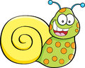 Cartoon illustration of a happy snail Royalty Free Stock Photography