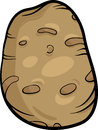 Cartoon illustration of potato vegetable food object Royalty Free Stock Photo
