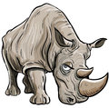Cartoon illustration of a rhino Royalty Free Stock Photography