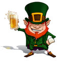 Cartoon illustration st patrick popular image cheering glass beer eps transparencies enjoy Royalty Free Stock Photo