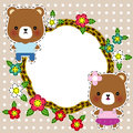 Cartoon illustration of sweet teddy bears vector Royalty Free Stock Image