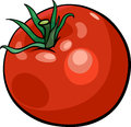 Cartoon illustration of tomato vegetable food object Stock Images
