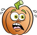 Cartoon very scared jack o lantern. Royalty Free Stock Photo