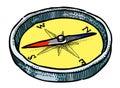 Cartoon image of Compass Icon. Architecture symbol