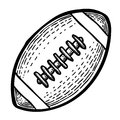Cartoon image of Rugby Icon. Sport symbol
