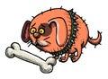 Cartoon image of small fat dog Royalty Free Stock Photo