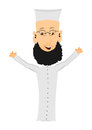 Cartoon imam on a white background easy to add to any design Stock Photo
