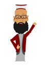 Cartoon imam on a white background easy to add to any design Stock Images