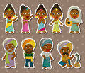 Cartoon Indian stickers Royalty Free Stock Image