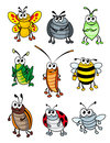 Cartoon insects Royalty Free Stock Photo