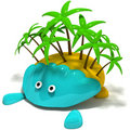 Cartoon Island Royalty Free Stock Photo