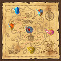 Cartoon Island Map Template Royalty Free Stock Photo