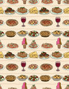 Cartoon Italy food seamless pattern Royalty Free Stock Photography