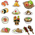 Cartoon Japanese food icon Royalty Free Stock Photos