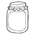 Cartoon jar of preserve black and white line in retro style vector available Royalty Free Stock Images