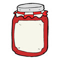 Cartoon jar of preserve hand drawn illustration in retro style vector available Stock Photography